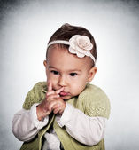 Thinking baby — Stock Photo