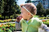 Baby outdoor — Stock Photo