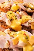Cheese bruchettas — Stock Photo