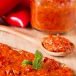 Serbian ajvar — Stock Photo