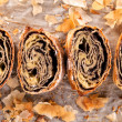 Baked strudel — Stock Photo