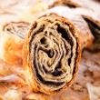 Traditional poppy strudel — Stock Photo