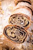 Fresh baked strudel — Stock Photo