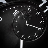 Black clock — Stock Photo