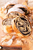 Homemade poppy strudel — Foto Stock