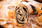 Traditional poppy strudel — Stock fotografie