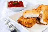 Fried feta — Stock Photo