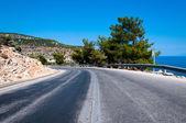 Road and sea — Stock Photo