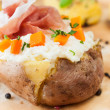 Stock Photo: Stuffed potatoe
