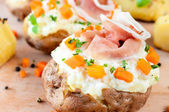 Stuffed baked potato — Stock Photo