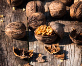 Raw walnuts — Stock Photo