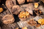 Walnuts in shell — Stock Photo