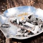 Metal ashtray — Stock Photo