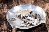 Metal ashtray — Stock Photo