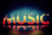 Muzyka w tle — Zdjęcie stockowe