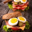 Toast sandwiches — Stockfoto #34633799