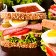 Stock Photo: Juicy sandwich
