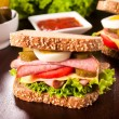 Stock Photo: Sandwich meal