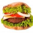 Haburger isolated — Stock Photo