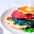 Colorfull pancake — Stock Photo