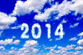 2014 clouds — Stock Photo