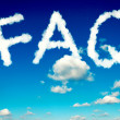 FAQ clouds — Stock Photo