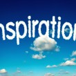 Inspiration clouds — Stock Photo