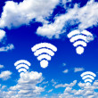 WiFi clouds — Stock Photo