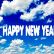 Happy New Year clouds — Stock Photo