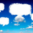 Blank clouds speech — Stock Photo