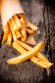 French fries in cornet — Stock Photo