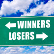 Stock Photo: Winners and losers sign