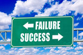 Failure and success sign — Stock Photo