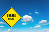 Change ahead — Stock Photo