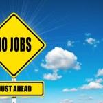 No Jobs just ahead — Stock Photo