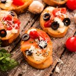Bruschetta on table — Stock Photo