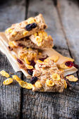 Corn flakes and cranberry — Stock Photo