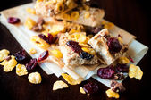Cranberry and corn flakes — Stock Photo