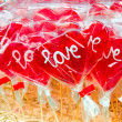 Stock Photo: Love lolly pops