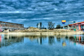 река сава в белграде — Стоковое фото