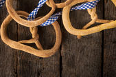 Linseed pretzel — Stock Photo