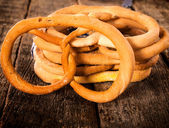 Group of pretzels — Stock Photo