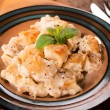 Gnocchi with cheese — Stock Photo