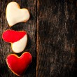 Stock Photo: Homemade heart cookies