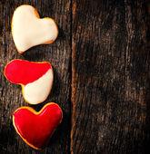 Homemade heart cookies — Foto Stock