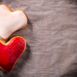 Two heart cookies — Stock Photo