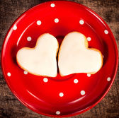White hearts — Stock Photo