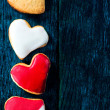 Sweet heart cookies — Stock Photo
