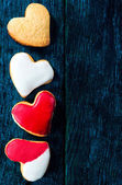 Sweet heart cookies — Stock fotografie