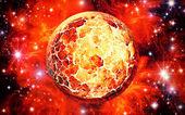 Sun adn stars — Foto Stock